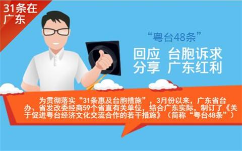 """圖解:廣東省發佈""""粵臺48條""""回應臺胞訴求分享廣東紅利"""