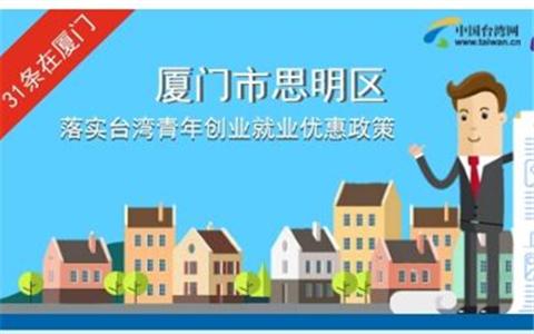 圖解:廈門市思明區落實臺灣青年創業就業優惠政策
