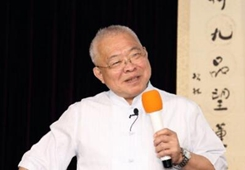 臺灣名嘴朱高正教授在上海演講文化自信