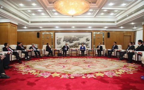 中國統促會副會長蘇輝會見歐洲各國統促會聯合訪問團