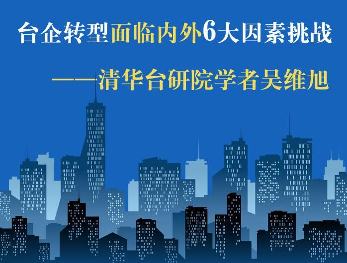 【圖侃産經】臺企轉型面臨內外6大因素挑戰 ——清華臺研院學者吳維旭