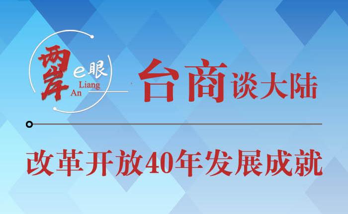 【圖侃産經】臺商談改革開放40年發展成就