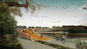 黃浦江東岸中斷點今年將架12座園橋,專供漫步、跑步、騎行.jpg