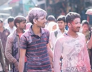 Holi Festival celebrated in Vrindavan, India