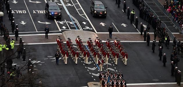 華盛頓舉行美國總統就職遊行