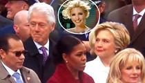 克林頓偷瞄特朗普女兒