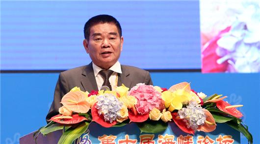 中華兩岸勞動關係發展協會理事長姚江臨在第十屆海峽論壇大會上致辭時表示,兩……