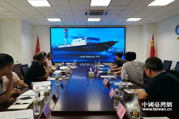 座談會上觀看華偉漁業集團宣傳片  (攝影  曾琦).jpg