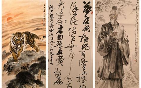 滬港臺書畫聯展在香港就行 展出書畫精品200余幅