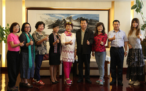 雲南省臺辦副主任會見臺灣臺北市工商婦女會參訪團一行
