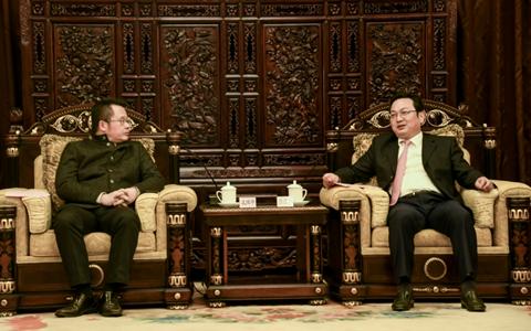 張國華在昆會見臺灣客人