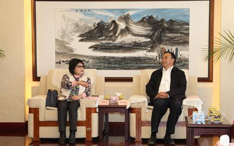 雲南省臺辦主任張朝德會見海峽兩岸勞工發展交流協會交流團
