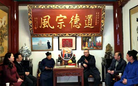 武漢市委臺辦調研長春觀 探索搭建漢臺宗教文化交流新平臺