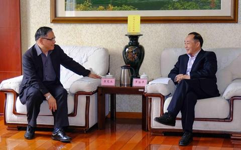 四川省臺辦主任羅治平會見臺灣貿易中心成都代表處首席代表