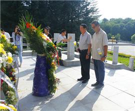 緬懷先烈 兩岸黃埔後人參觀楊靖宇殉國地