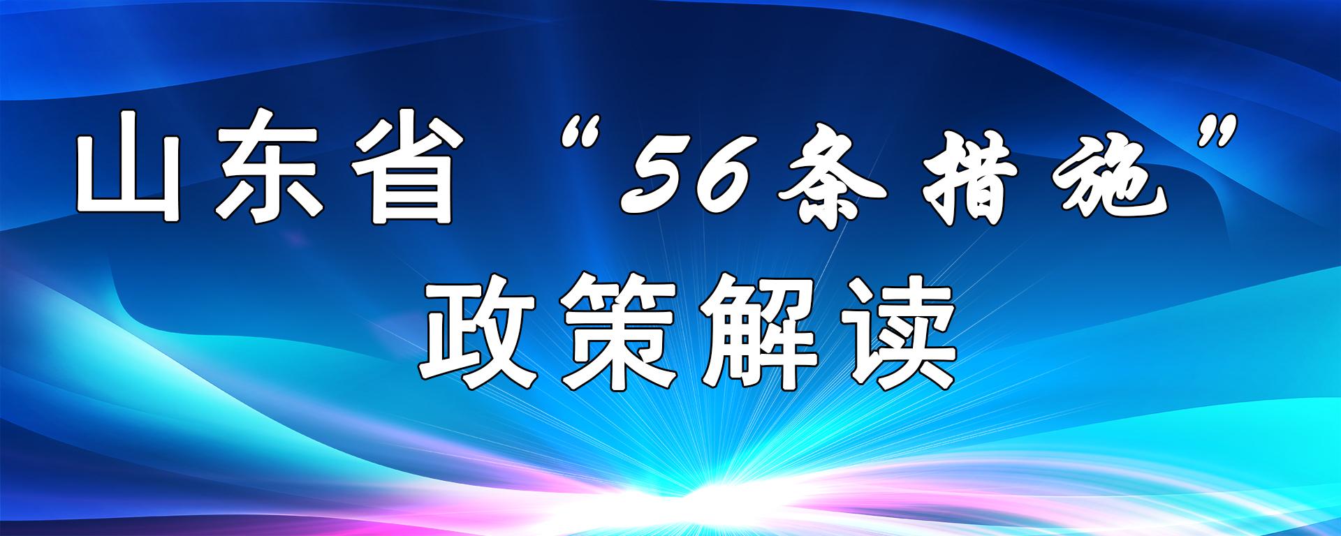 """山東省""""56條""""政策解讀"""