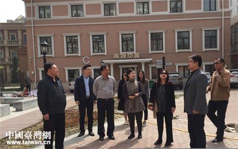 臺灣文化創意産業聯盟協會榮譽理事長李永萍一行到天津河北區參觀考察