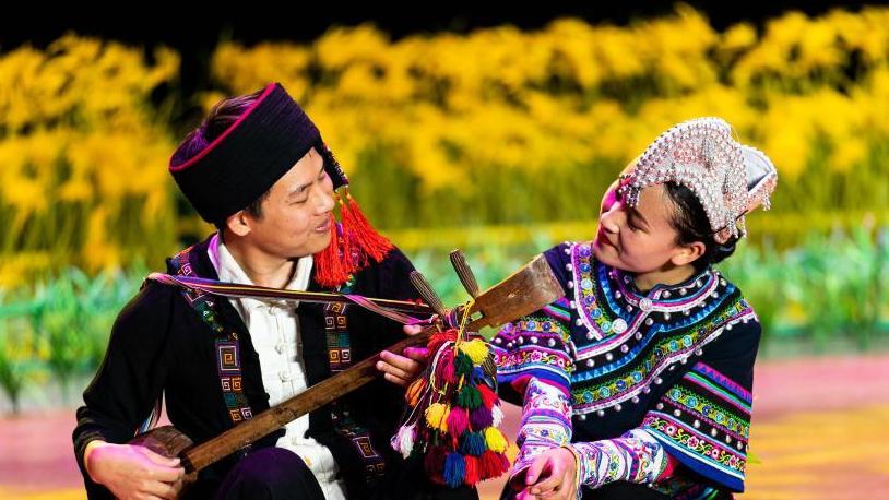 雲南元陽:《哈尼古歌》呈現視聽盛宴
