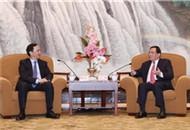 李強會見新北市長朱立倫:歡迎支援更多臺灣青年在滬創業發展