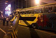 臺灣遊覽車又傳意外!撞斷陸橋限高橫樑 多名學生受傷