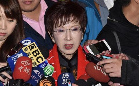 前國民黨主席洪秀柱批蔡英文:沒點亮臺灣卻點燃鬥爭之火