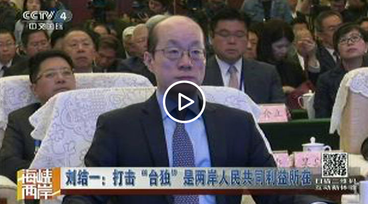 """劉結一:打擊""""臺獨""""是兩岸人民共同利益所在"""