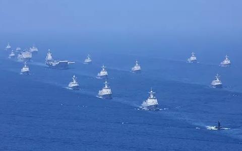 4月12日航母打擊作戰群等接受檢閱.jpg