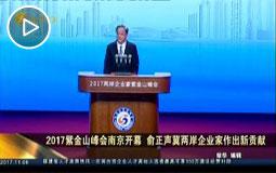 2017紫金山峰會南京開幕 俞正聲冀兩岸企業家作出新貢獻