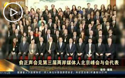 俞正聲會見第三屆兩岸媒體人北京峰會與會代表