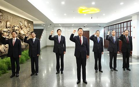 習近平總書記帶領中共中央政治局常委瞻仰中共一大會址引起熱烈反響