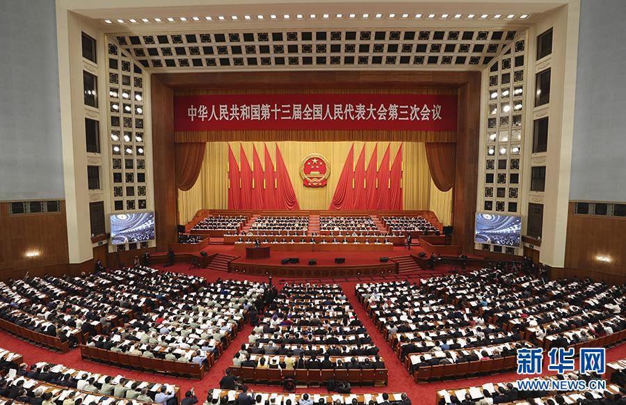 5月22日,第十三屆全國人民代表大會第三次會議在北京人民大會堂開幕。 新華社記者 姚大偉 攝