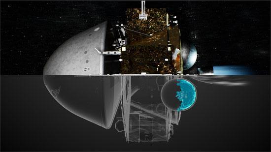 天問一號制動捕獲效果圖。中國航太科技集團八院供圖