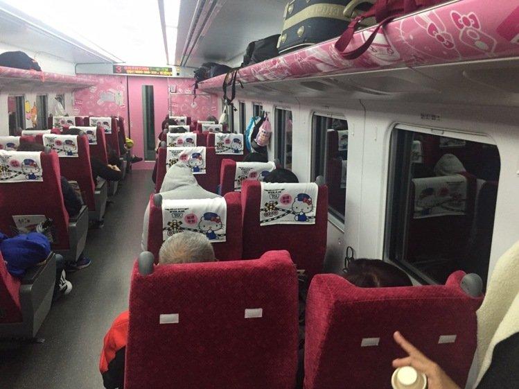 臺鐵Hello Kitty列車今再啟航 毛巾遭竊7條
