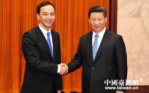 習近平會見中國國民黨主席朱立倫一行(組圖)